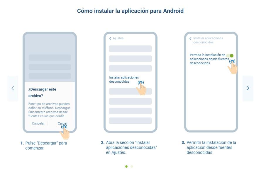 descargar aplicación Android 1xBet